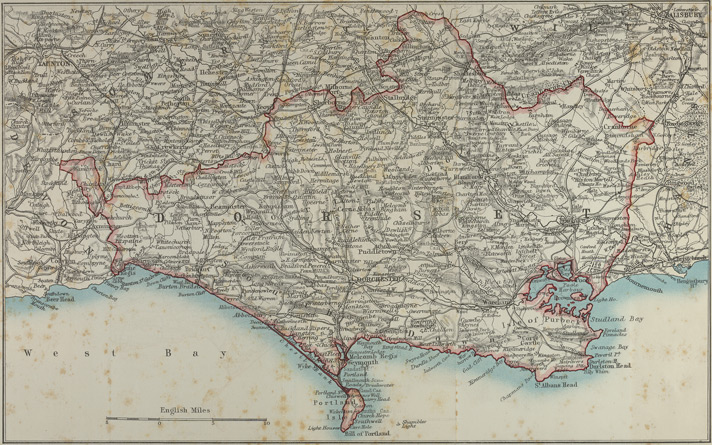 Map of Dorsetshire